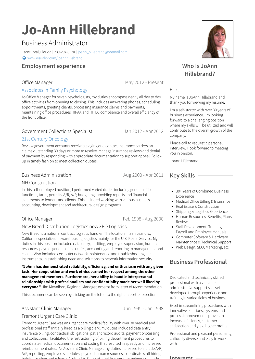 office manager skills resume