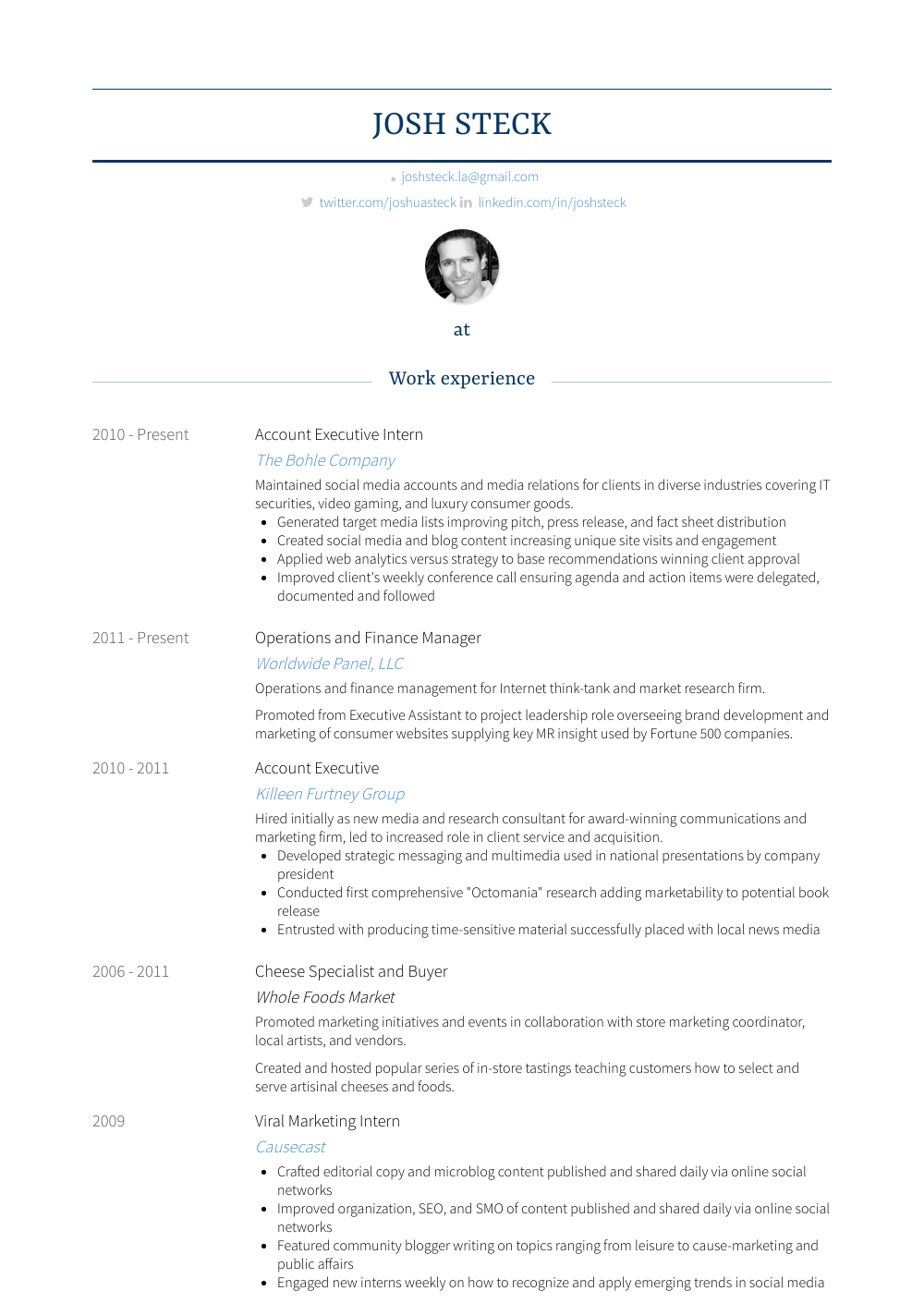 sample finance manager resume
