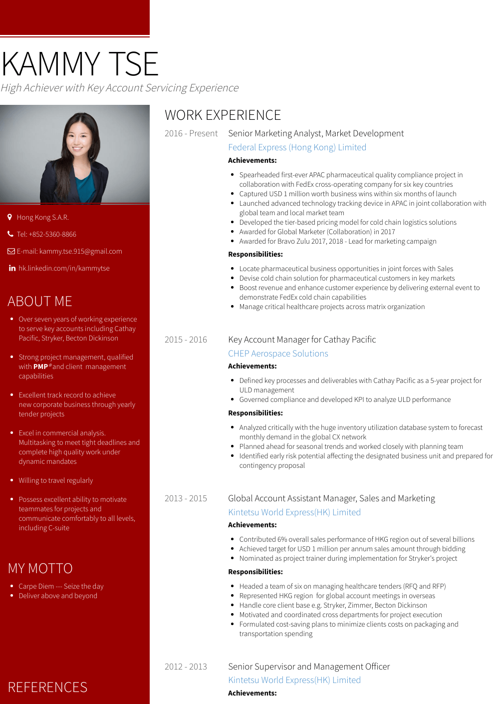 Account Assistant Resume Sample