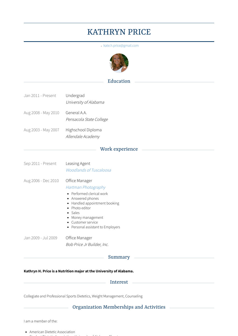 leasing agent  resume samples and templates  visualcv