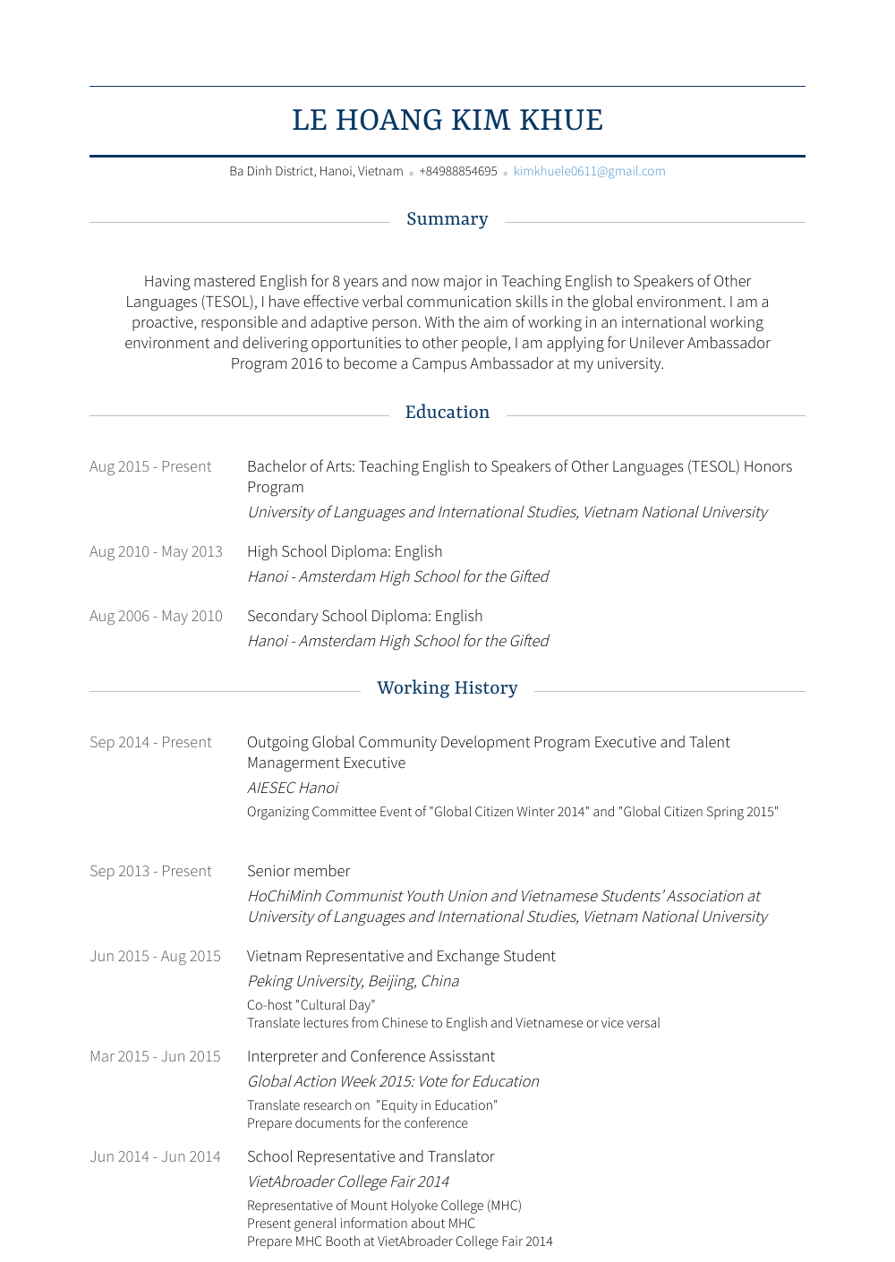 honors  resume samples and templates  visualcv