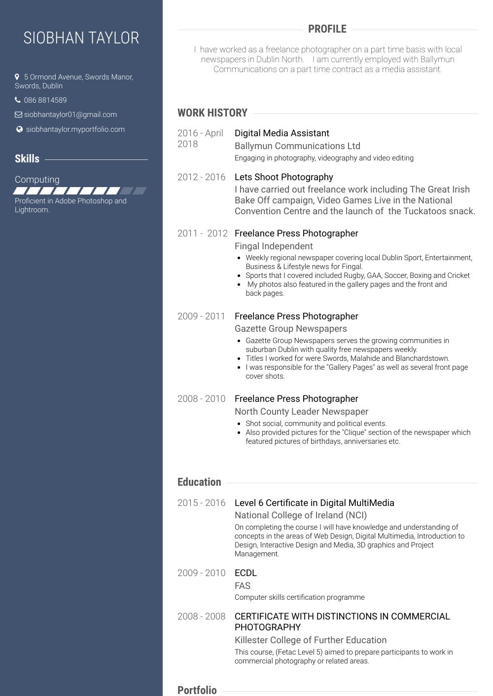 Temp Resume Sample