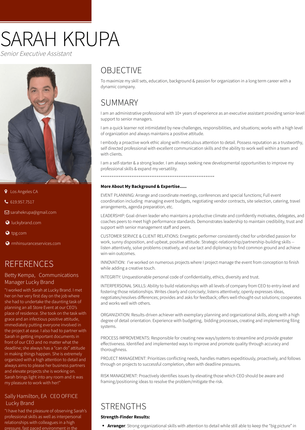Senior Executive - Resume Samples and Templates | VisualCV