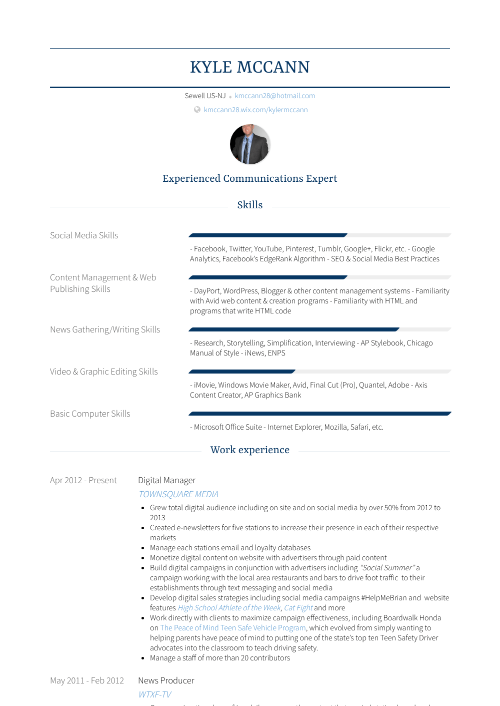 Managing Editor - Resume Samples & Templates   VisualCV