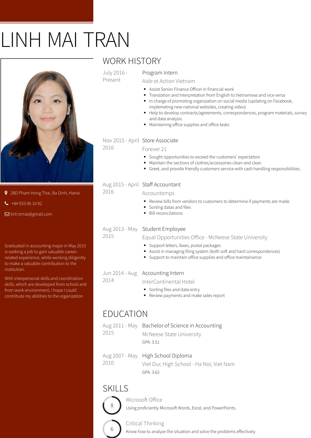 Store Associate Resume Sample