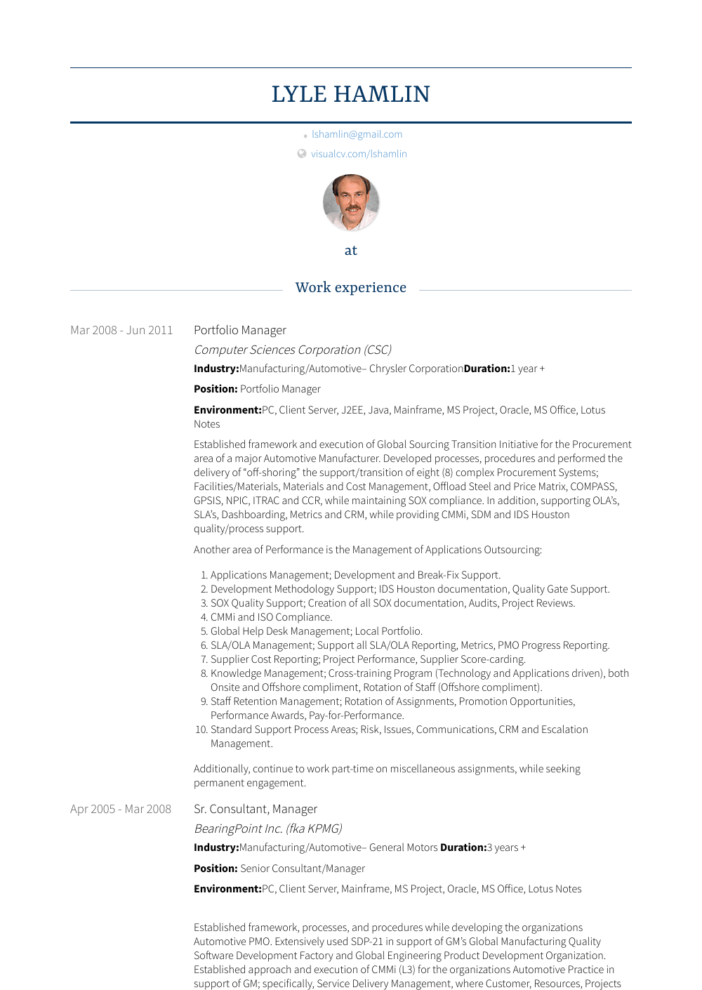 Portfolio Manager Resume Sample