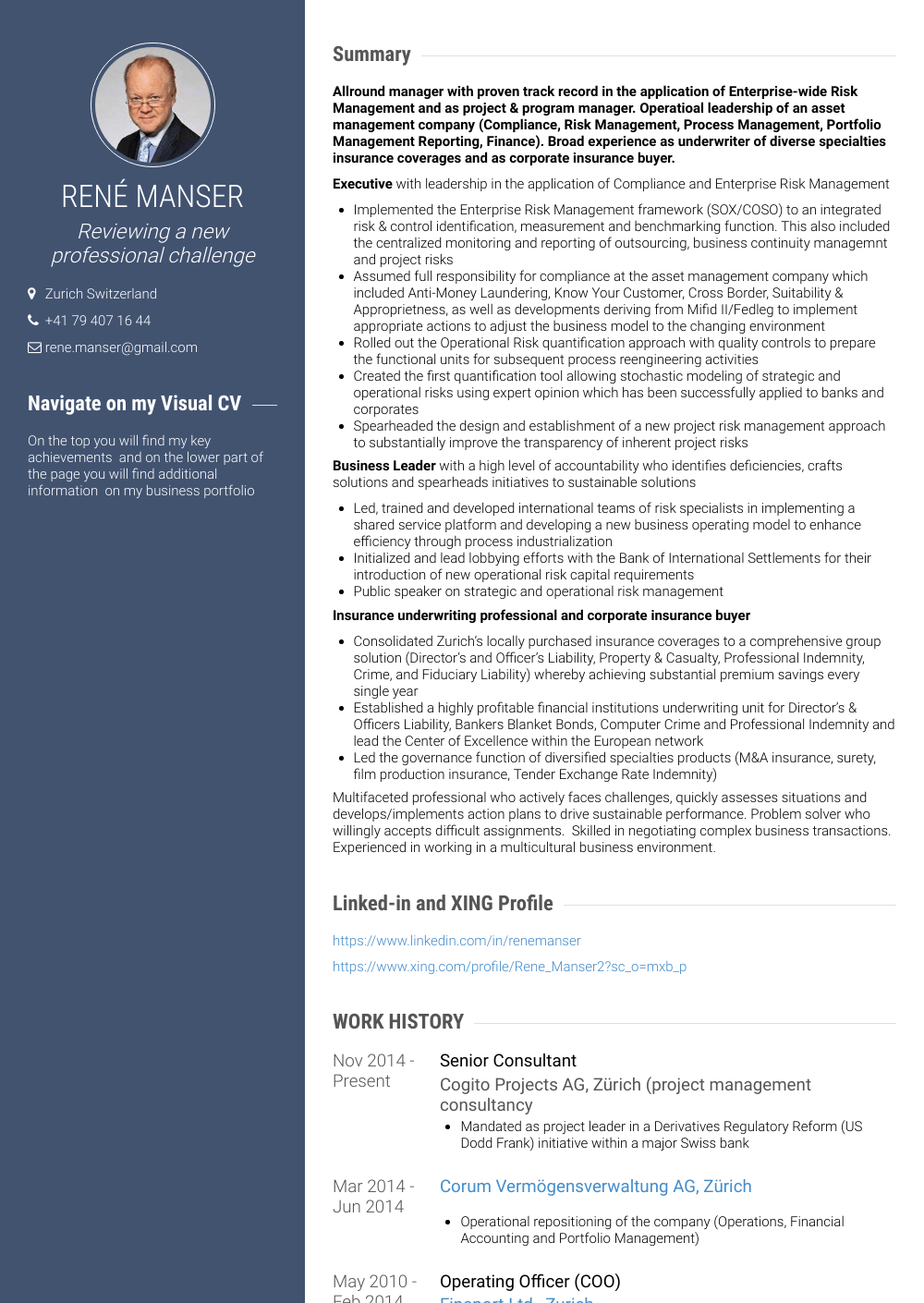 Senior Consultant Resume Sample