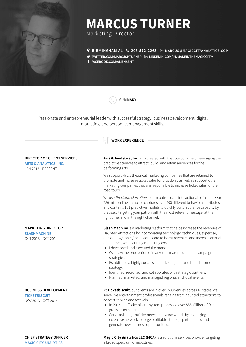 Director Resume Sample