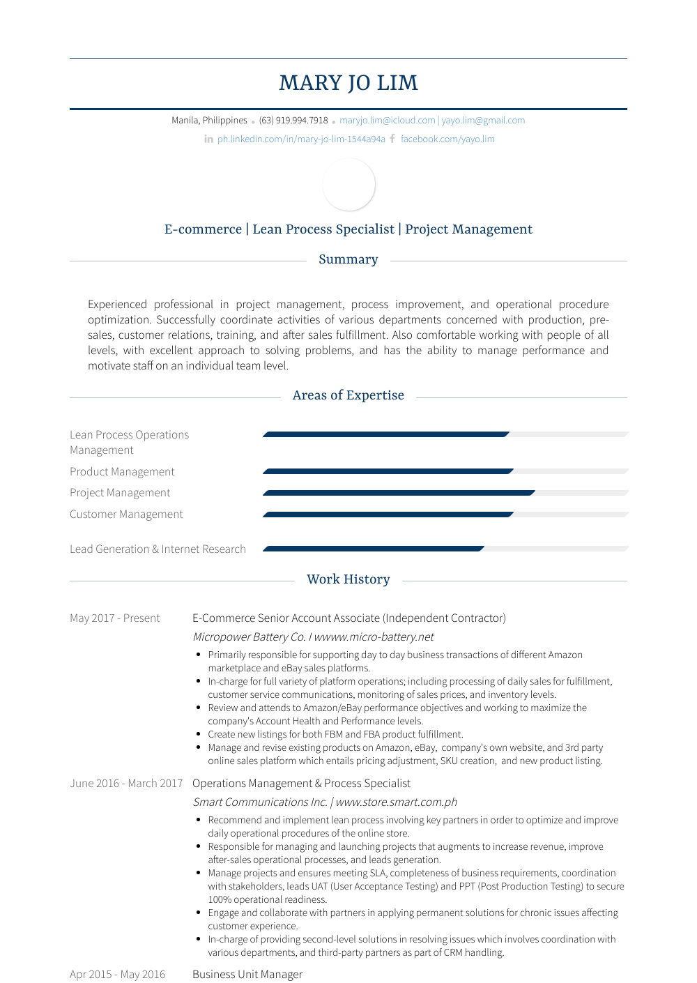Business Unit Manager Resume Samples And Templates Visualcv