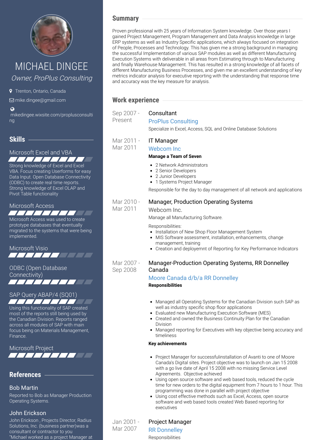 resume of it manager