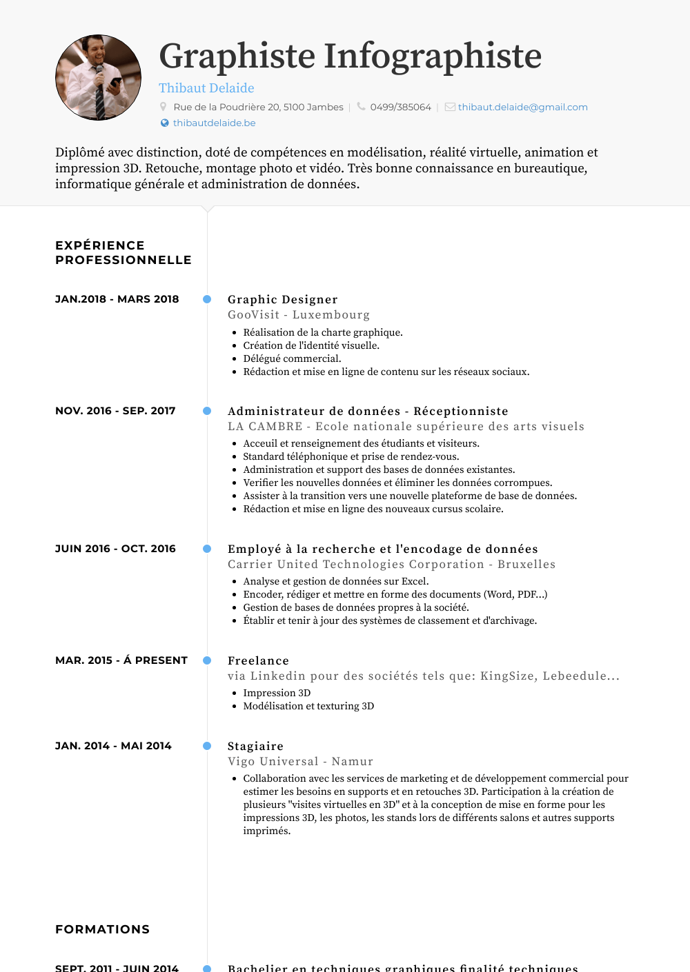 Stagiaire Resume Sample