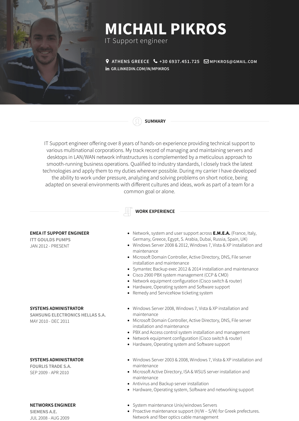 it support  resume samples and templates  visualcv