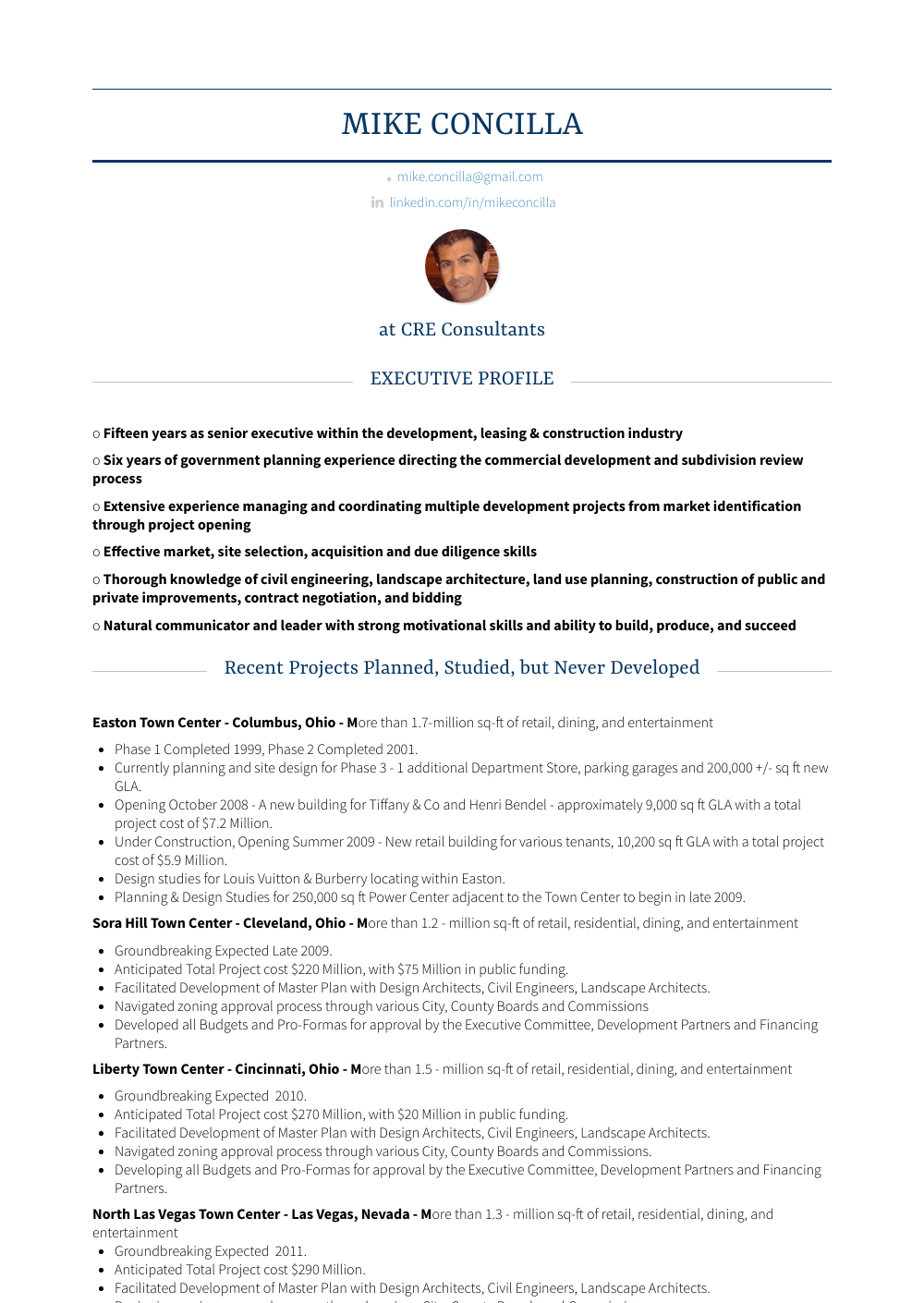 Commercial Real Estate Broker Resume Sample and Template