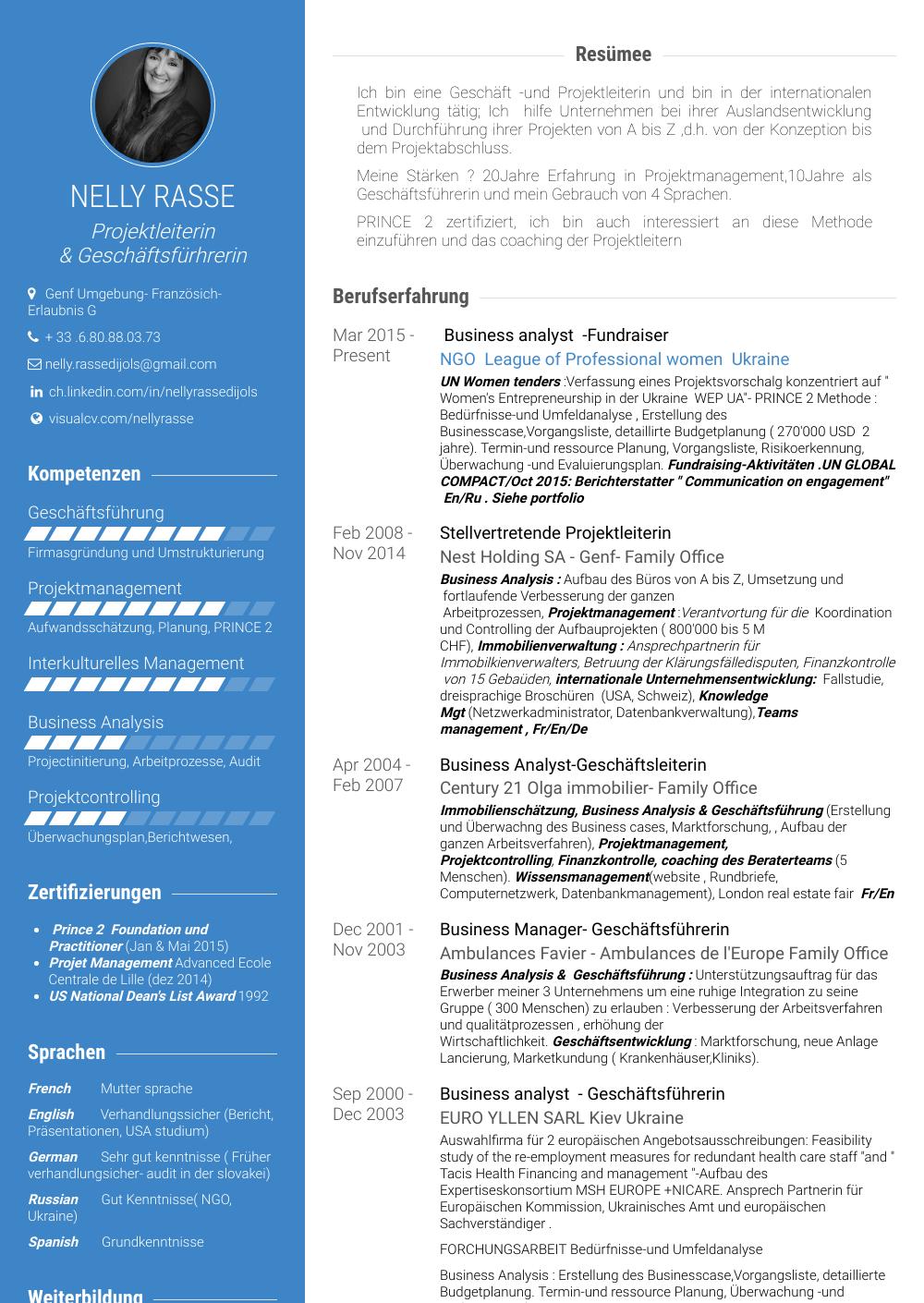 Analyst - Resume Samples & Templates | VisualCV