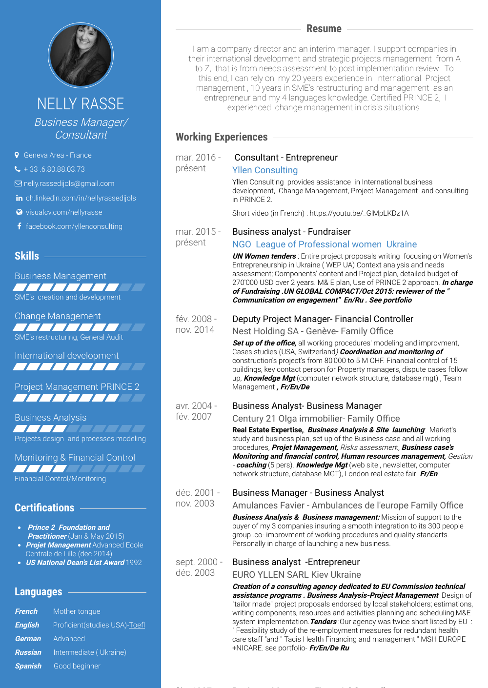 Business Resume Sample