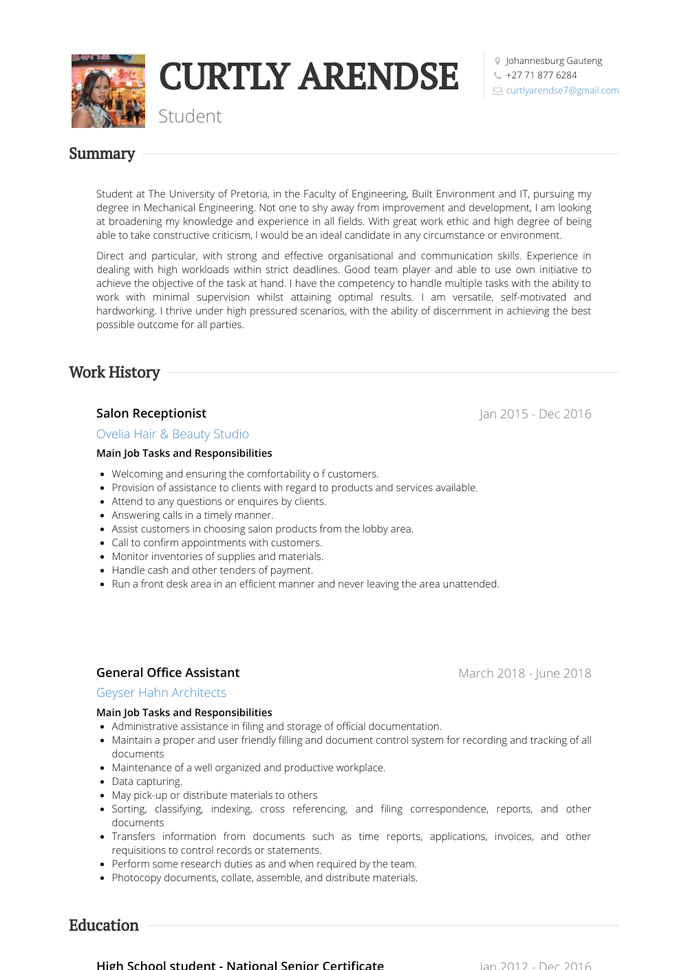 Legal Secretary Resume Samples And Templates Visualcv