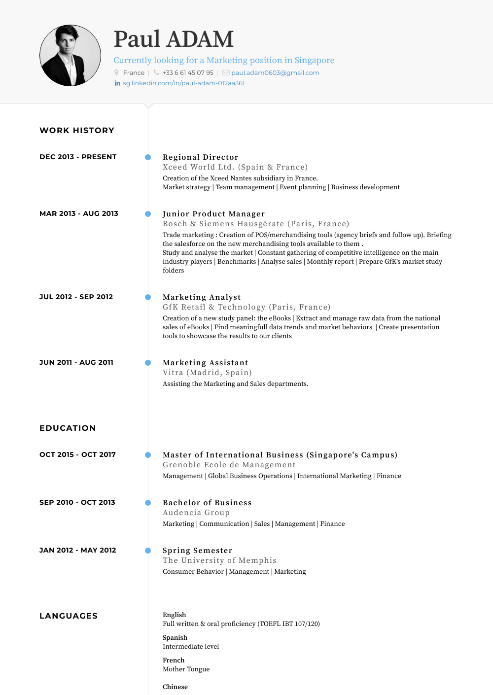 Regional Director Resume Sample