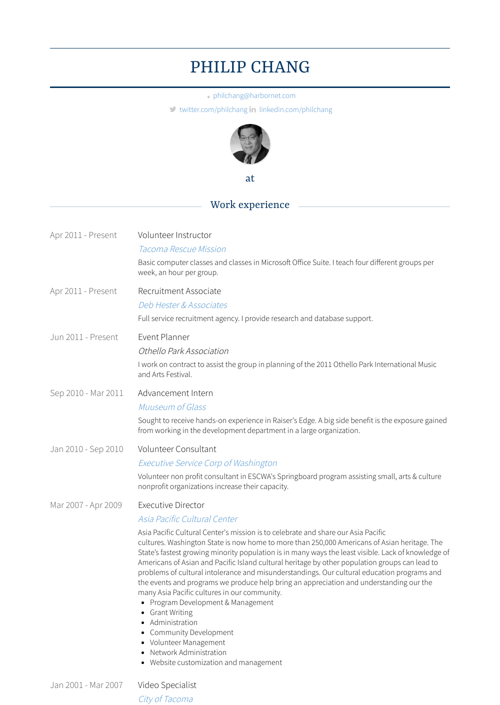 Event Planner Resume Sample