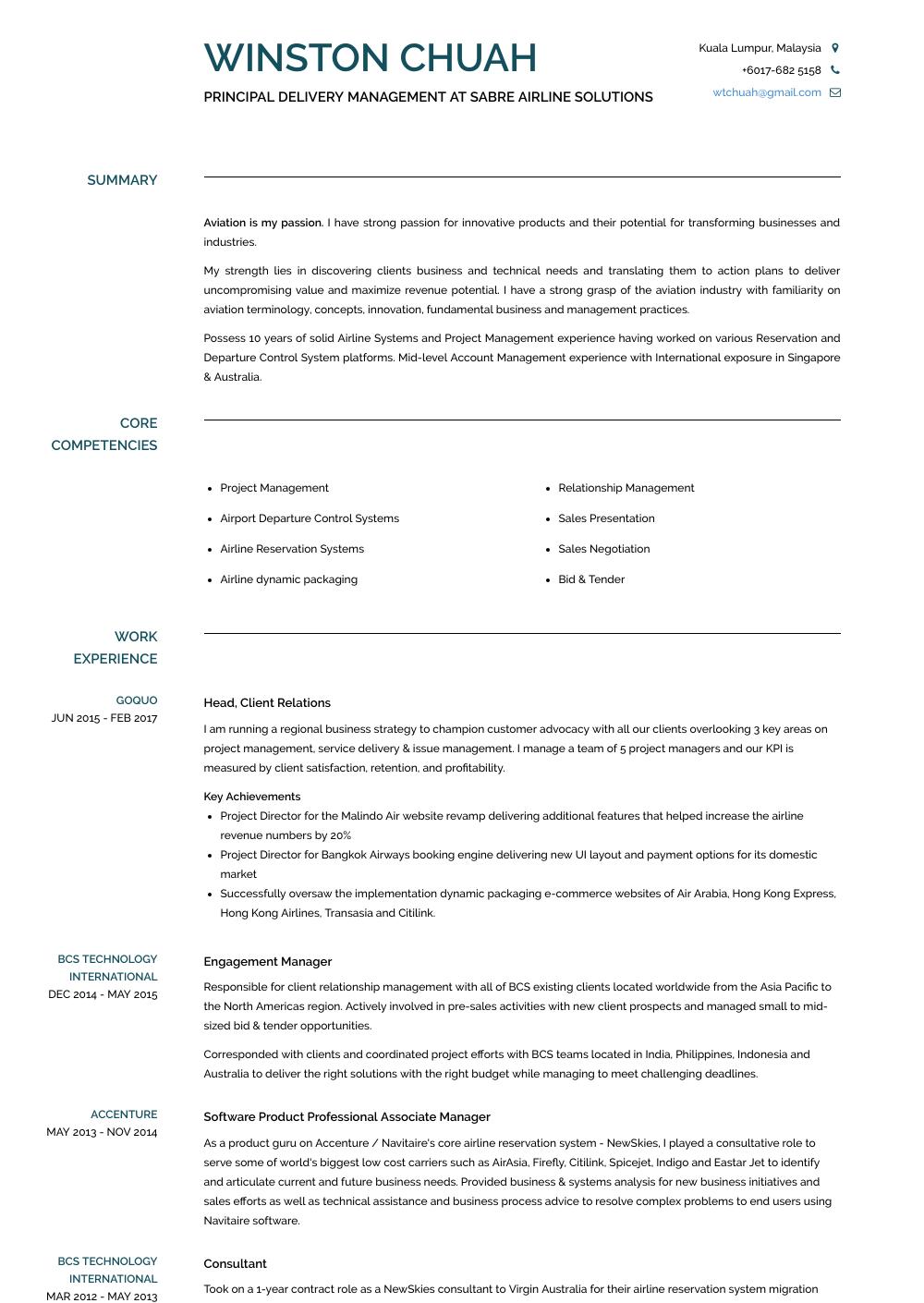 Associate Manager Resume Sample
