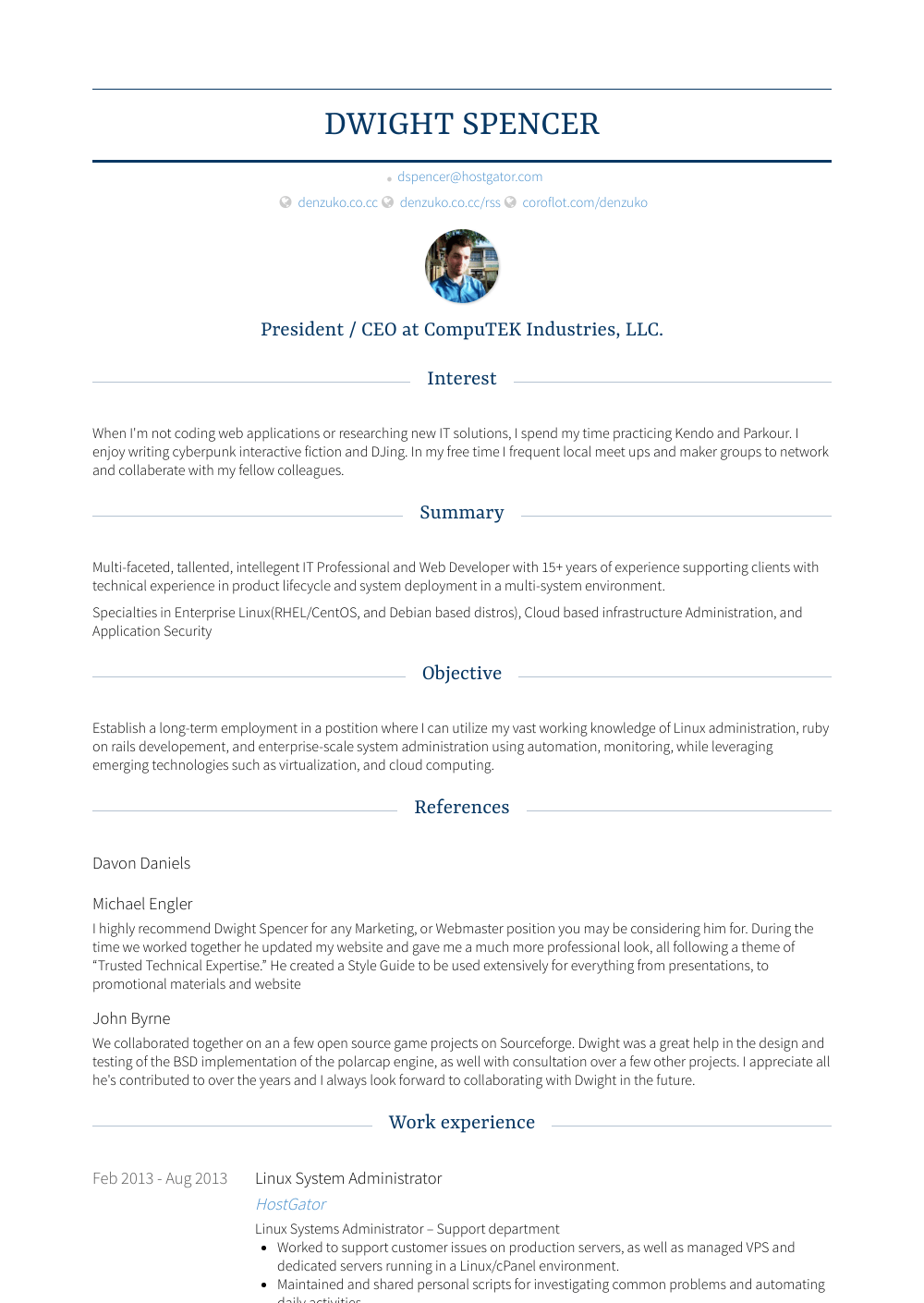 System Administrator Resume Samples Templates Visualcv