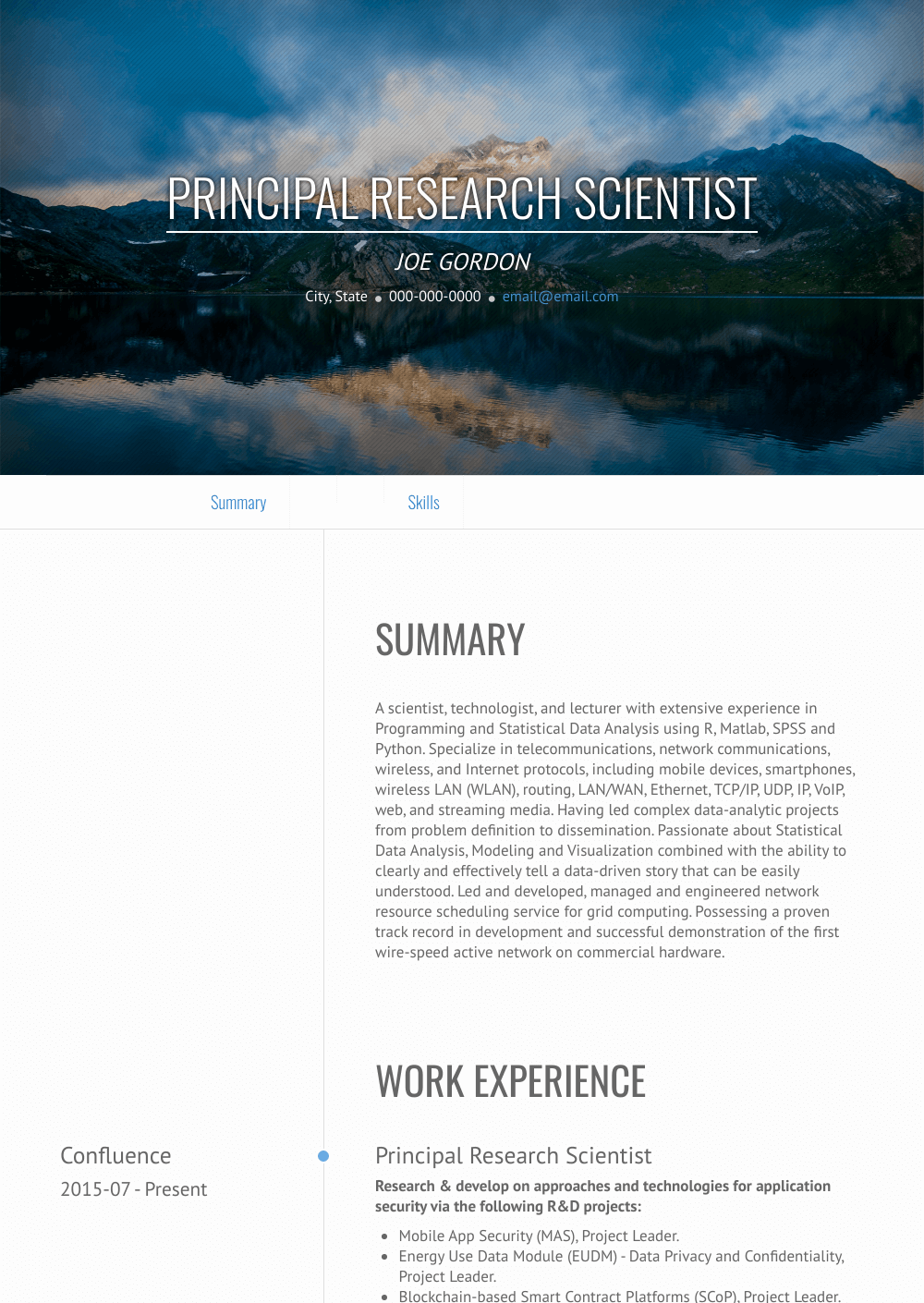 Research Scientist Resume Samples Amp Templates Visualcv