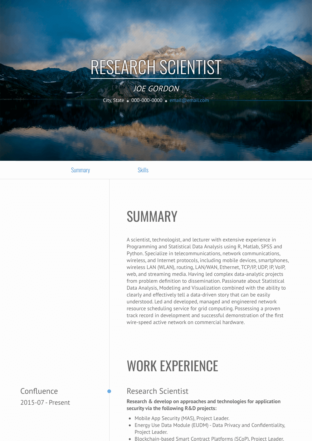 Research Scientist Resume Sample and Template