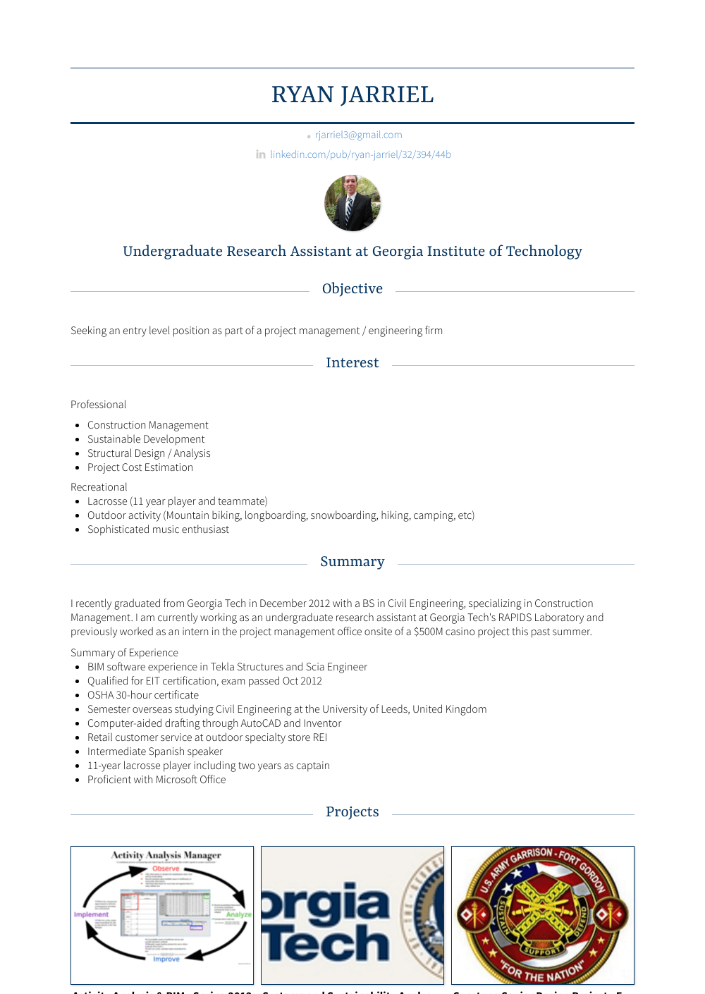 Undergraduate Research Assistant Resume Sample