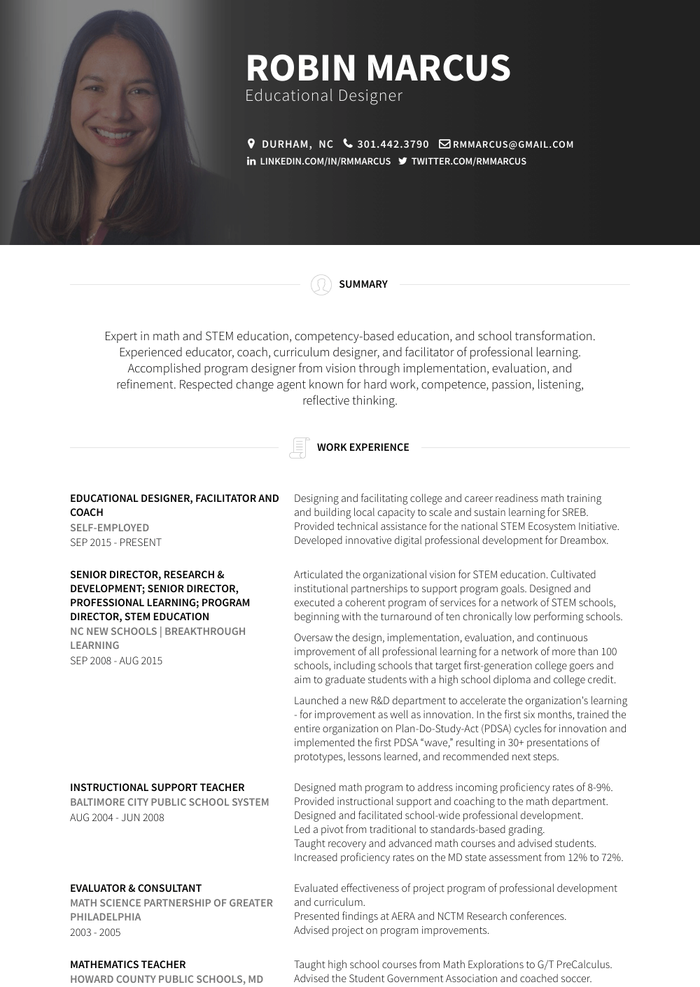 Facilitator Resume Sample