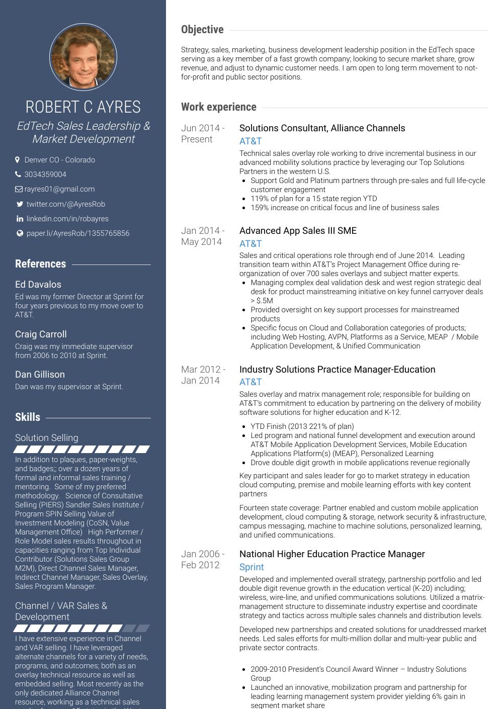Consultant Resume Sample