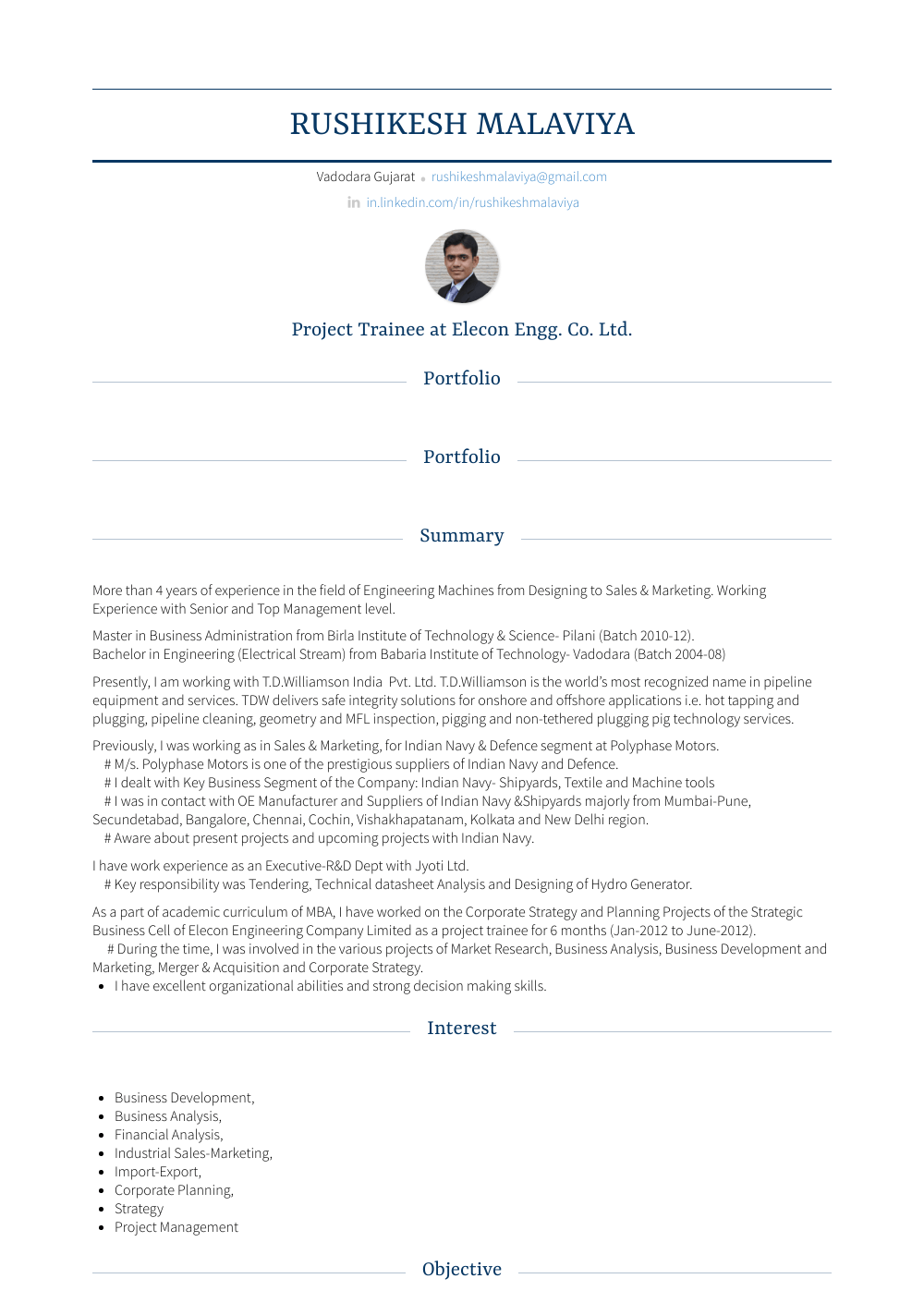 Technical Specialist Resume Sample