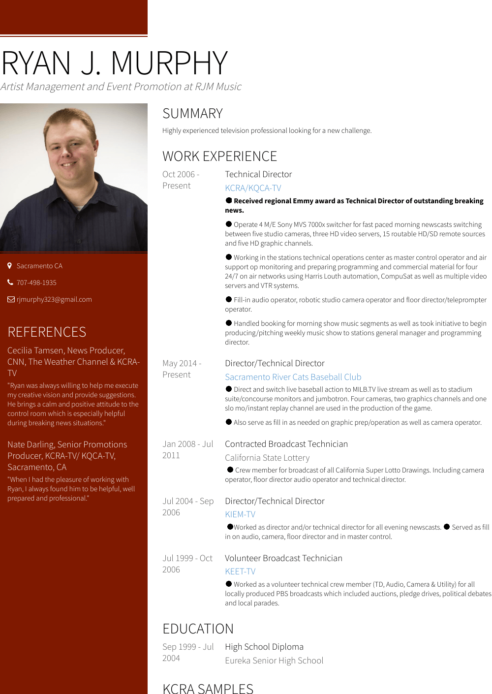 Tech Resume Samples Templates Visualcv