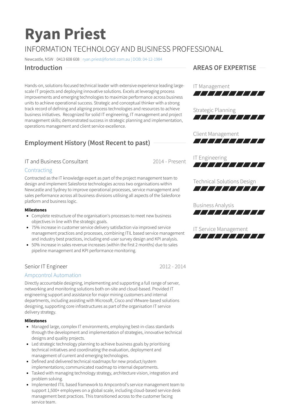 Business Consultant Resume Samples Templates Visualcv