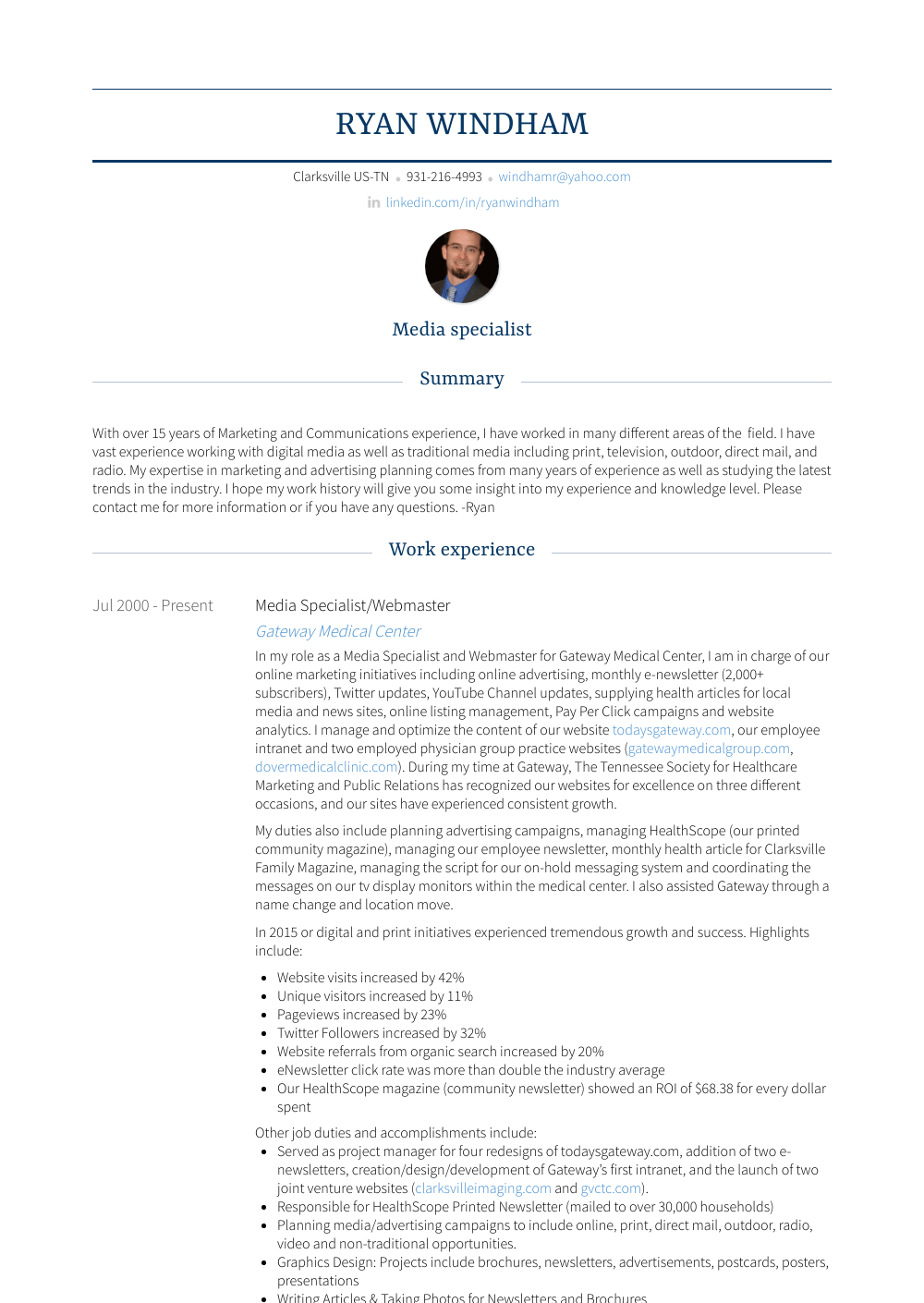 Webmaster Resume Sample