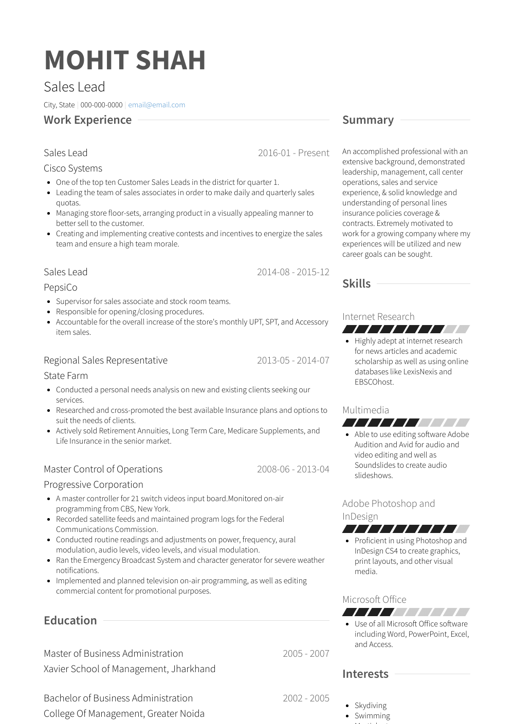 Sales Lead  Resume Samples  amp  Templates