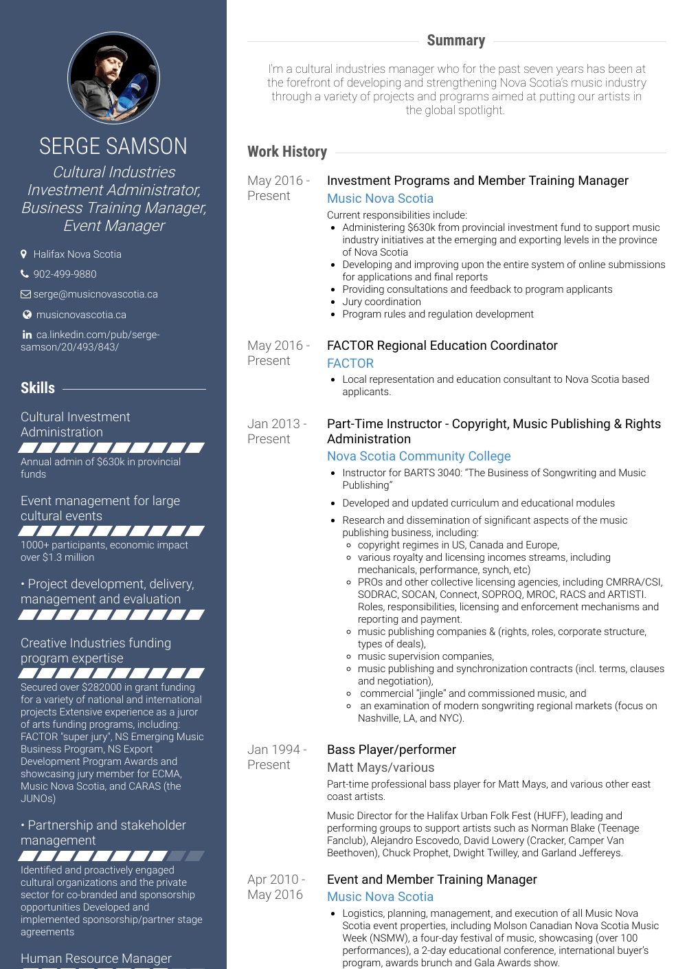 Training Manager Resume Sample