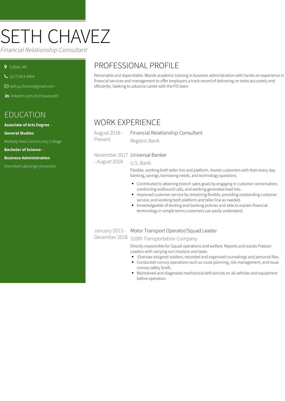 Operator Resume Sample