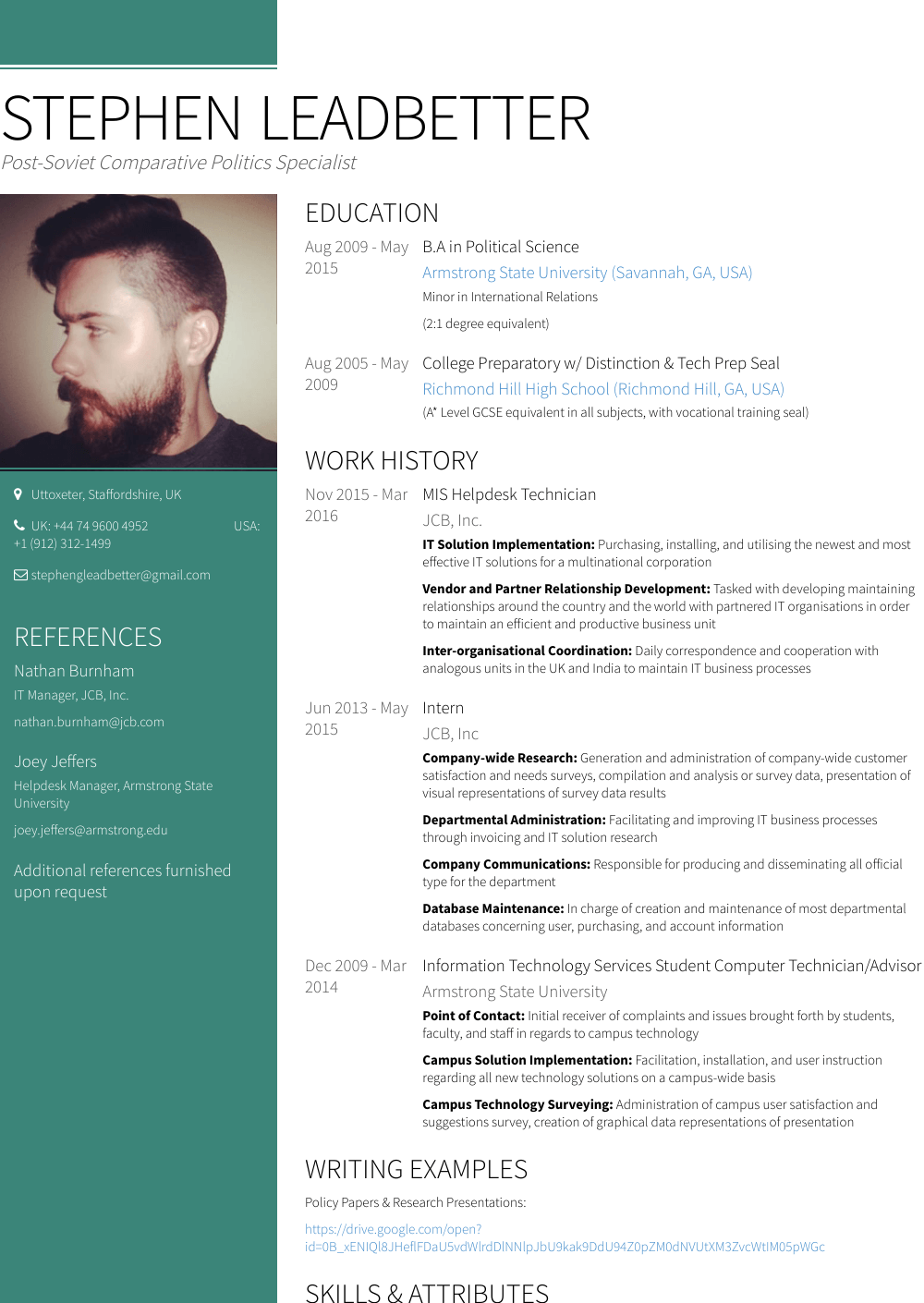 Helpdesk - Resume Samples & Templates | VisualCV