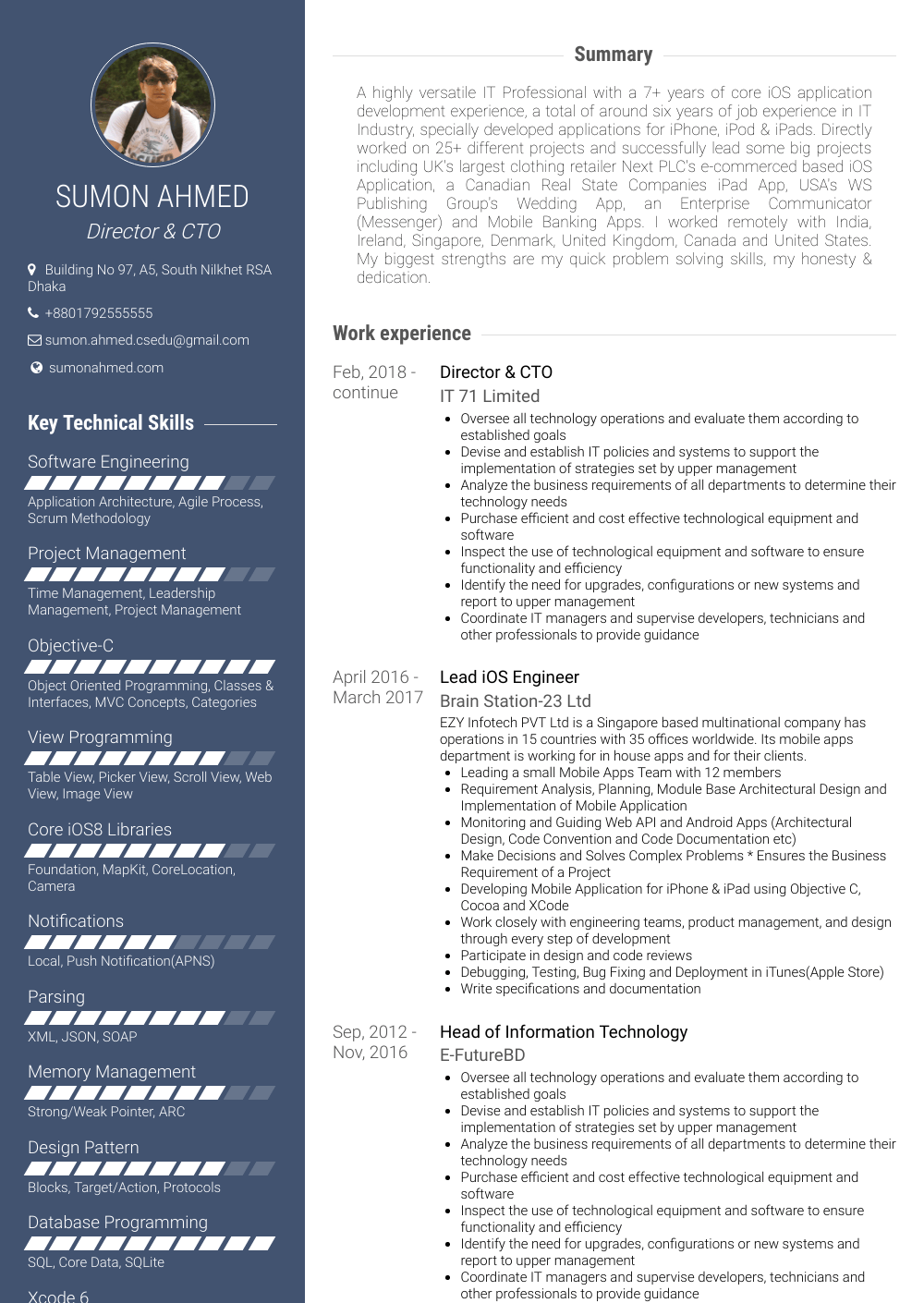 Lead Engineer Resume Sample