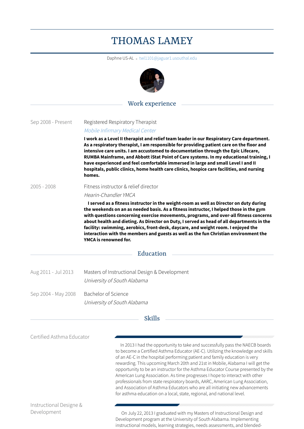 Respiratory Therapist Resume Samples And Templates Visualcv