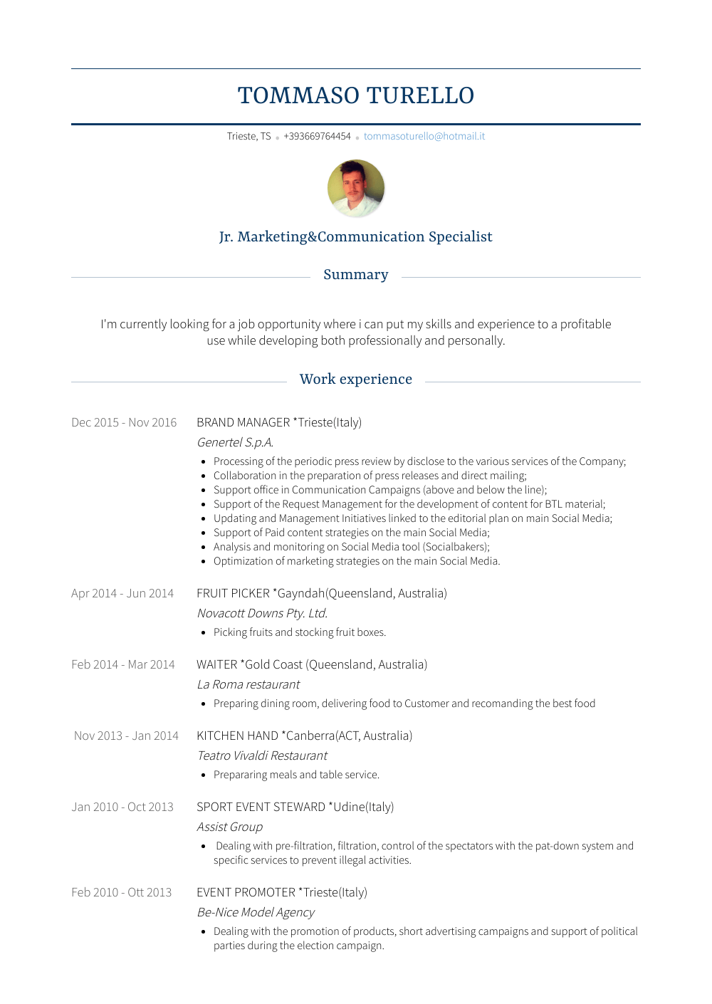 packer  resume samples and templates  visualcv