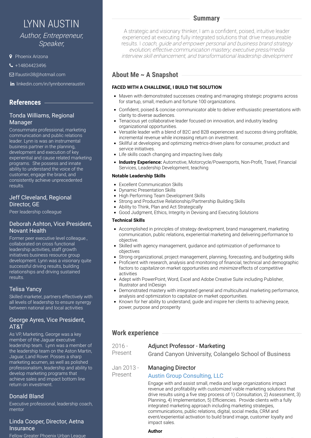 Regional Manager Resume Sample