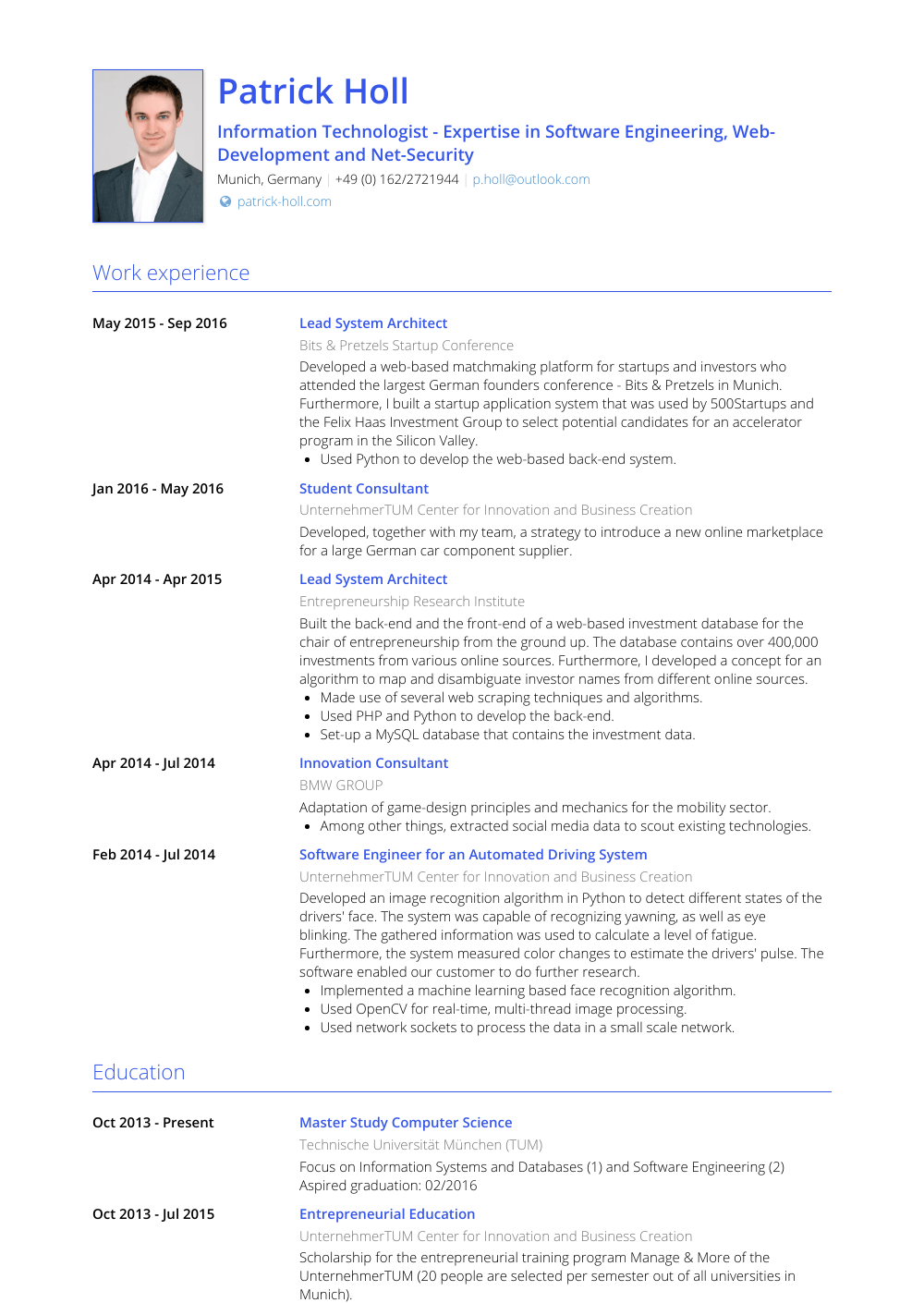 Architect Resume Samples And Templates Visualcv
