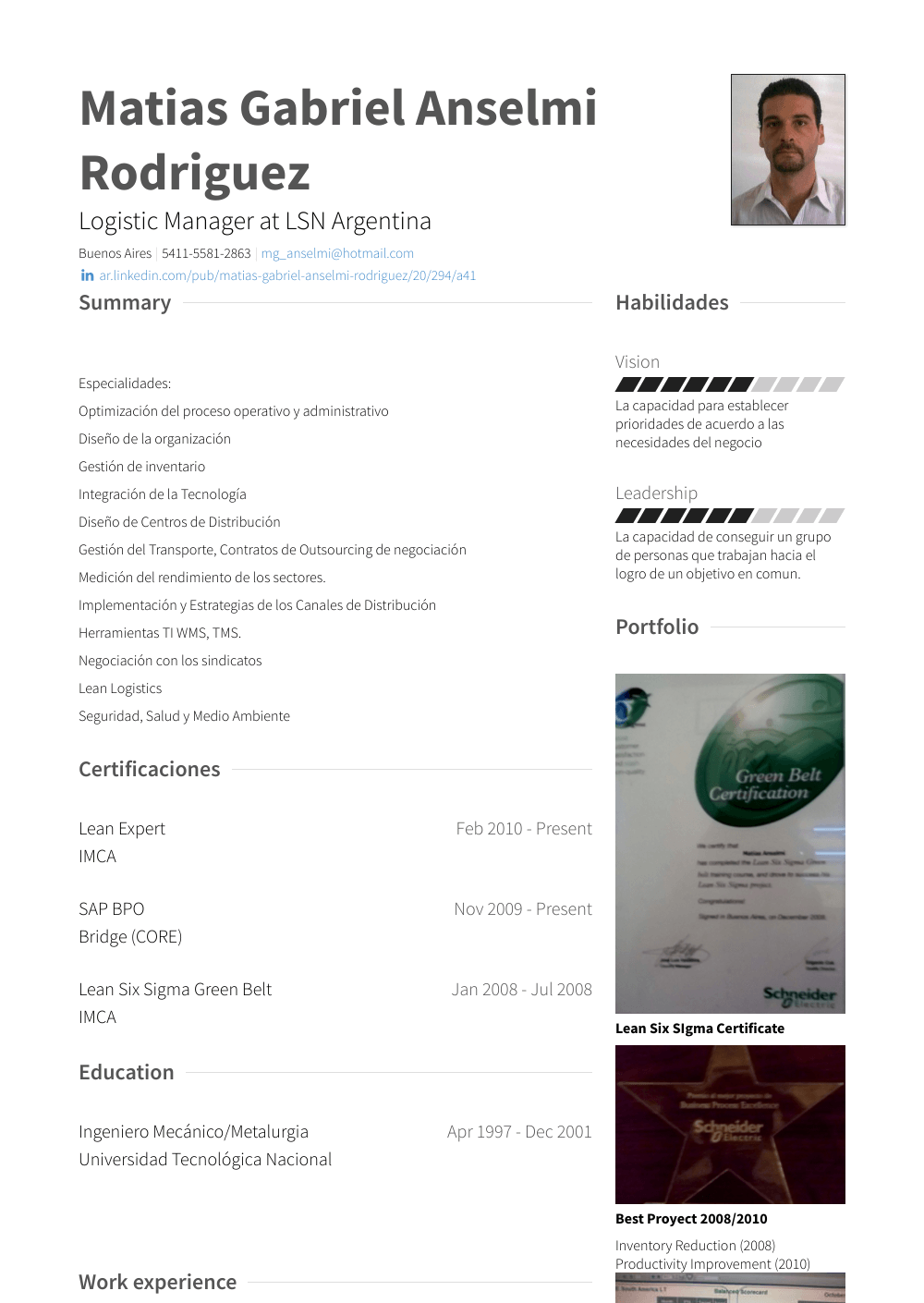 Logistic Manager Resume Sample