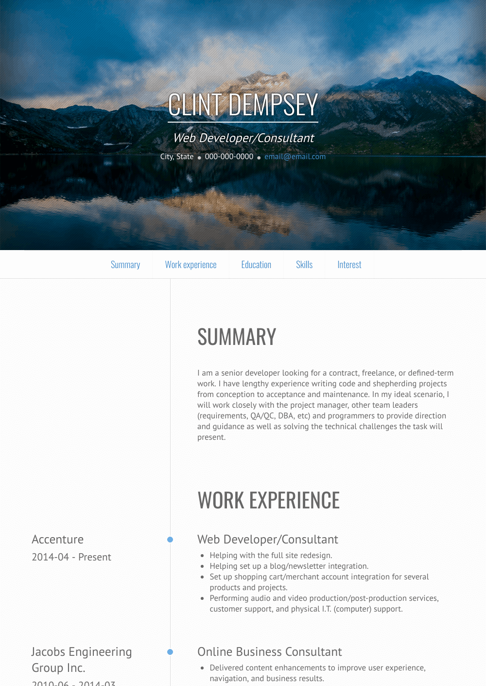 Web Consultant Resume Sample