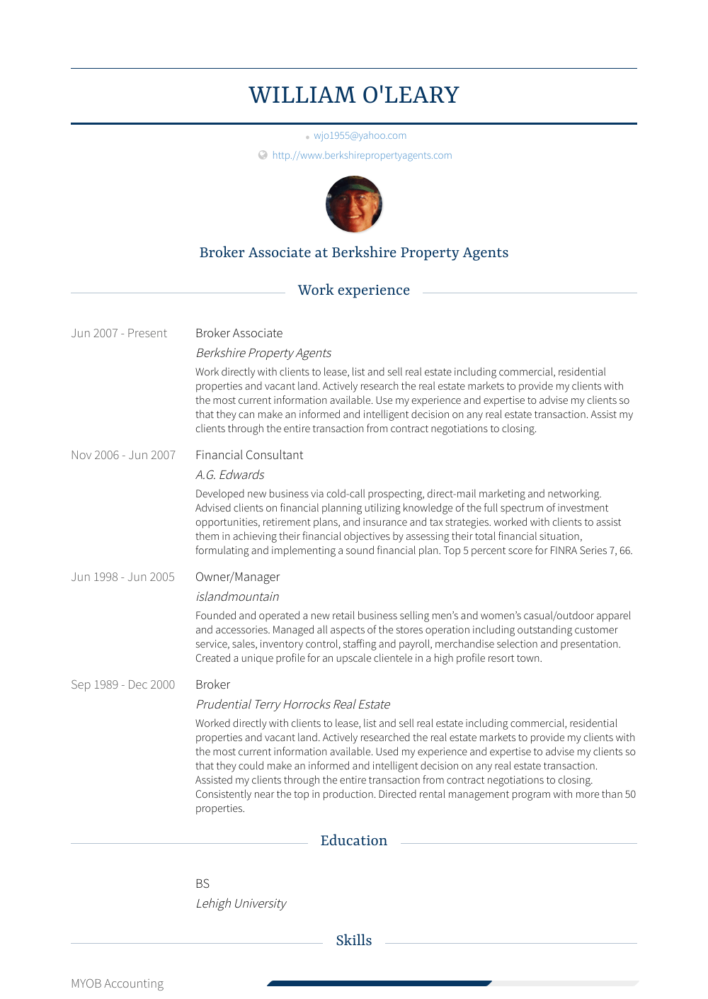 Broker Associate - Resume Samples & Templates | VisualCV