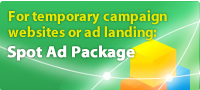Spot Add Pack for periodic campaign website or add landing
