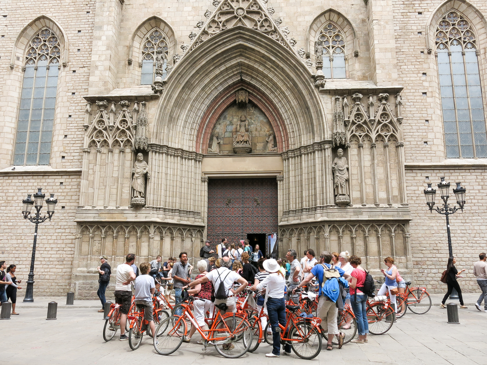 barcelona spain Santa Maria del Mar_383500489