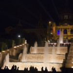 Night view of the fountain and National Museum of Art of Barcelona_374892598