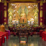 Buddha Tooth Relic Temple with monks_370401284