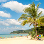 Karon beach in Phuket island Thailand_359979407